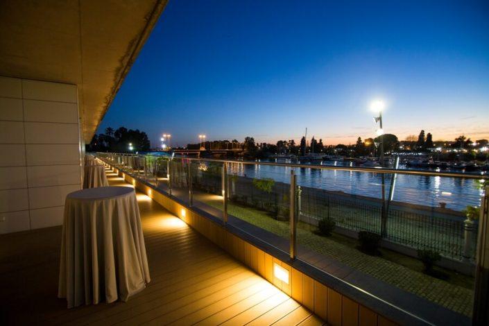 Vistas del rio Guadalquivir desde Muelle 21