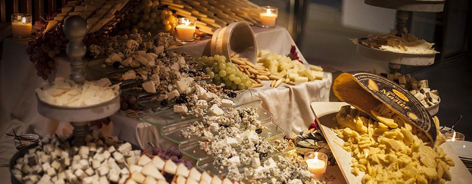 Rincón gastronómico de quesos para eventos