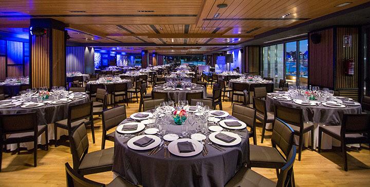 Salón principal para banquete en Muelle 21