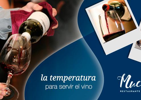 Temperatura ideal para servir el vino