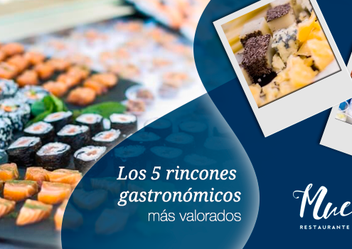 Rincones gastronómicos más valorados para un evento
