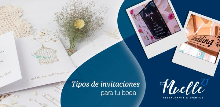 Tipos de invitaciones para tu boda