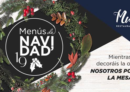 Banner oferta menu de navida en Muelle 21 Sevilla